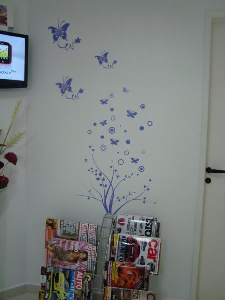Artesanato Valença Rj ~ Adesivo Parede Floral Borboletas Flad Art Impress u00e3o digital