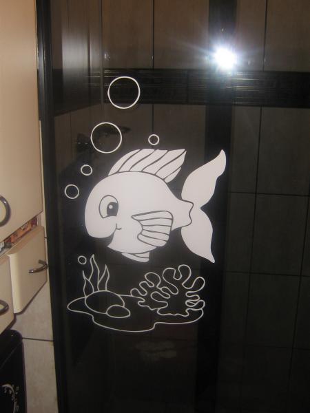 Artesanato Valença Rj ~ Adesivo de Parede Peixinho Feliz Flad Art Impress u00e3o digital
