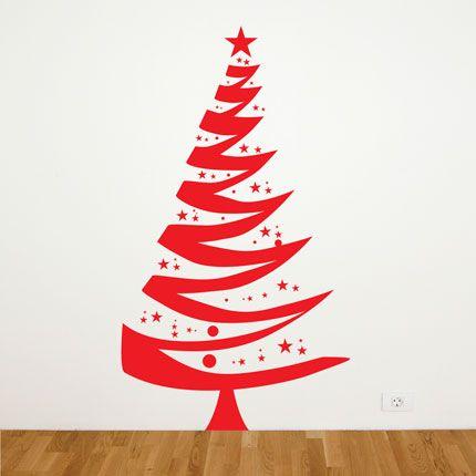 O adesivo de parede natal rvore de natal flad art - Arbol de navidad artesanal ...